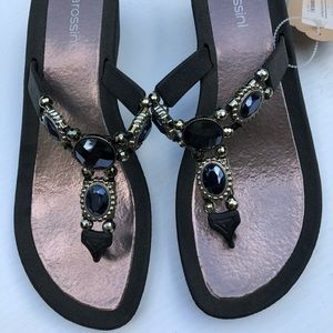 Pia Rossini Jewelled Wedges